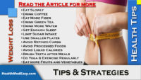 Weight Loss - Tips and Strategies - Eat, Drink, Follow and Maintain